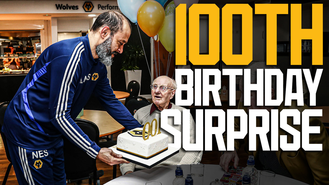 Nuno and Wolves players give Alf an amazing 100th birthday surprise!