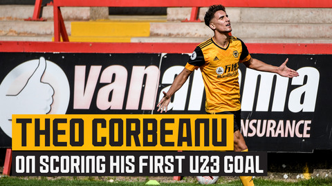 Theo Corbeanu on scoring his first U23 goal