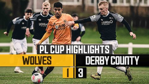 Perry on target but Under 23's are pegged back! | Wolves 1-3 Derby County | PL Cup Highlights