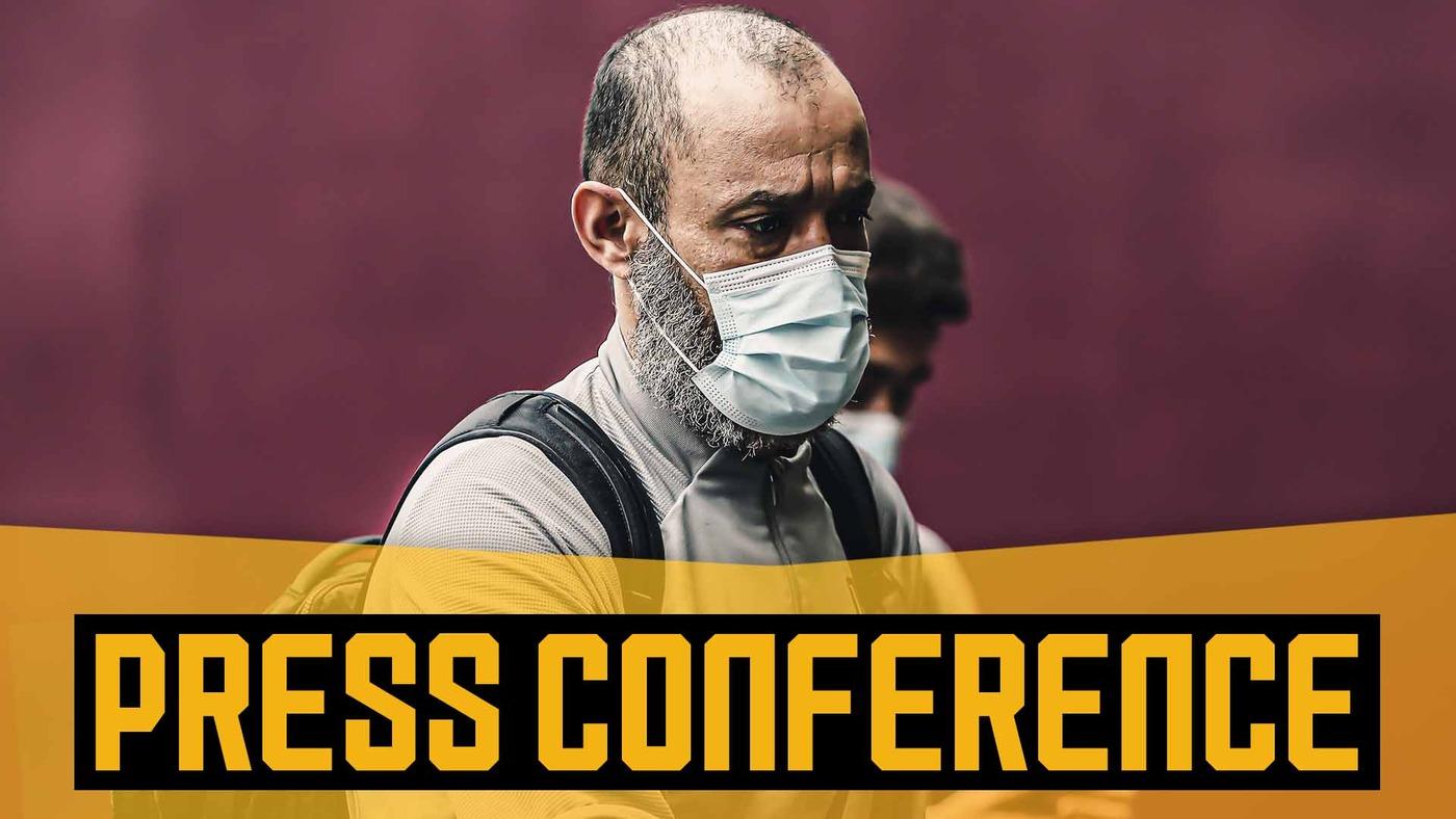 Nuno on Liverpool challenge,  Raul Jimenez training with protective headgear and VAR feedback