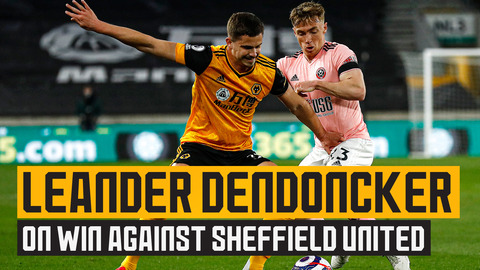 Dendoncker reacts to the victory over Sheffield United