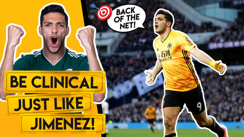 BECOME A DEADLY FINISHER LIKE RAUL JIMENEZ | Skills and drills to improve your goalscoring