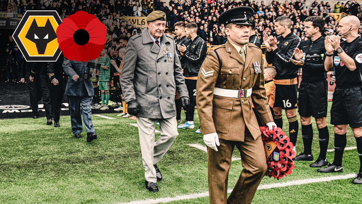 Wolves supporting servicemen on the importance of Remembrance Day | #LestWeForget
