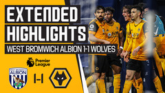The points are shared in the Black Country Derby | West Bromwich Albion 1-1 Wolves | Highlights