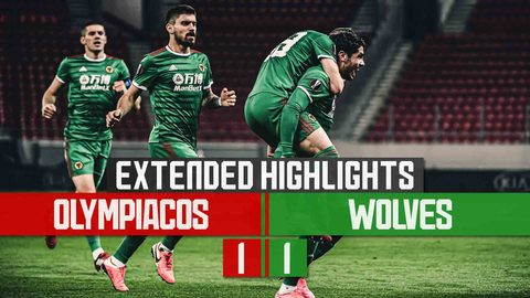 Neto's deflected strike gives Wolves a valuable away goal | Olympiacos 1-1 Wolves | Extended Highlights
