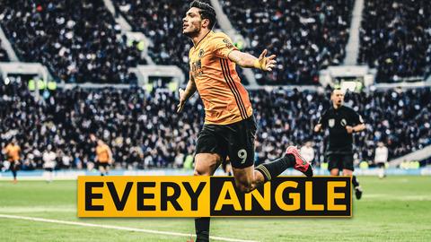 THE JOTA AND JIMENEZ COMBINATION! | Raul Jimenez v Tottenham Hotspur | Every Angle