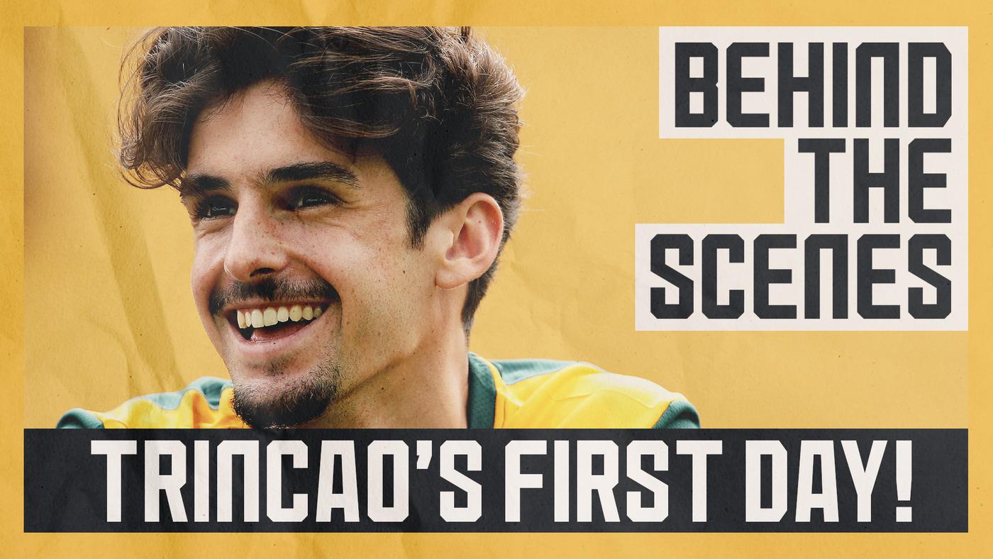 TRINCAO'S FIRST DAY! | Greetings, gym, training, media work