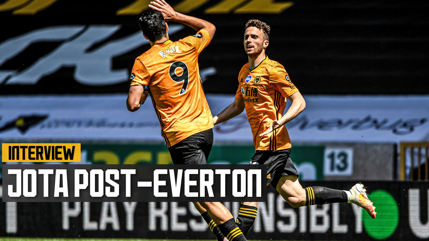 Goalscorer Jota on the 3-0 victory over Everton