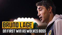 Lage reflects on first victory as Wolves boss