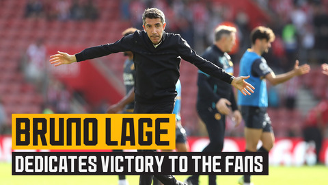 Lage dedicates win at Southampton to the fans