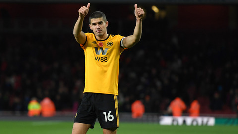 Coady on a point at Arsenal