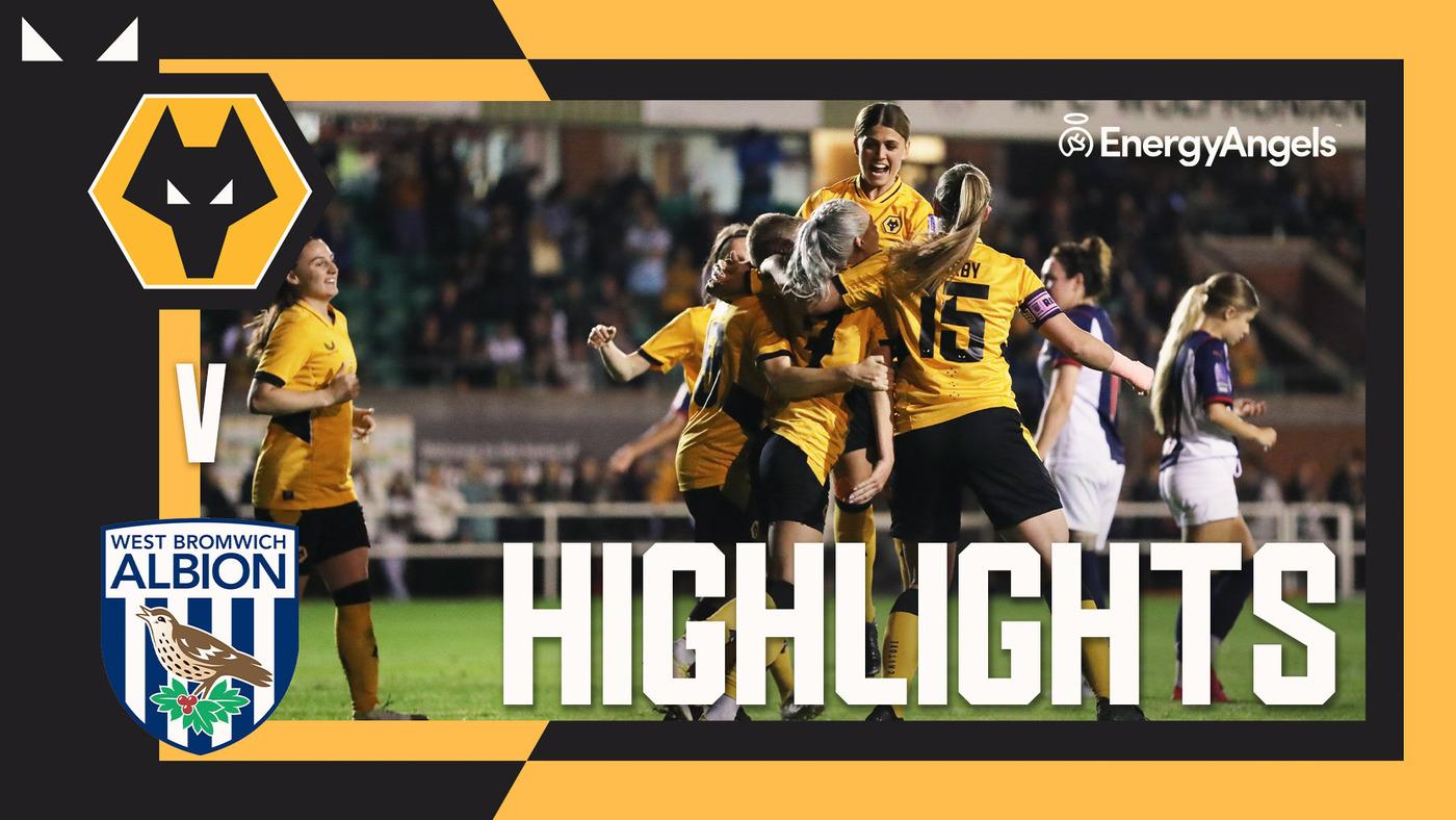 Wolves Women 2-0 WBA Women | Extended highlights