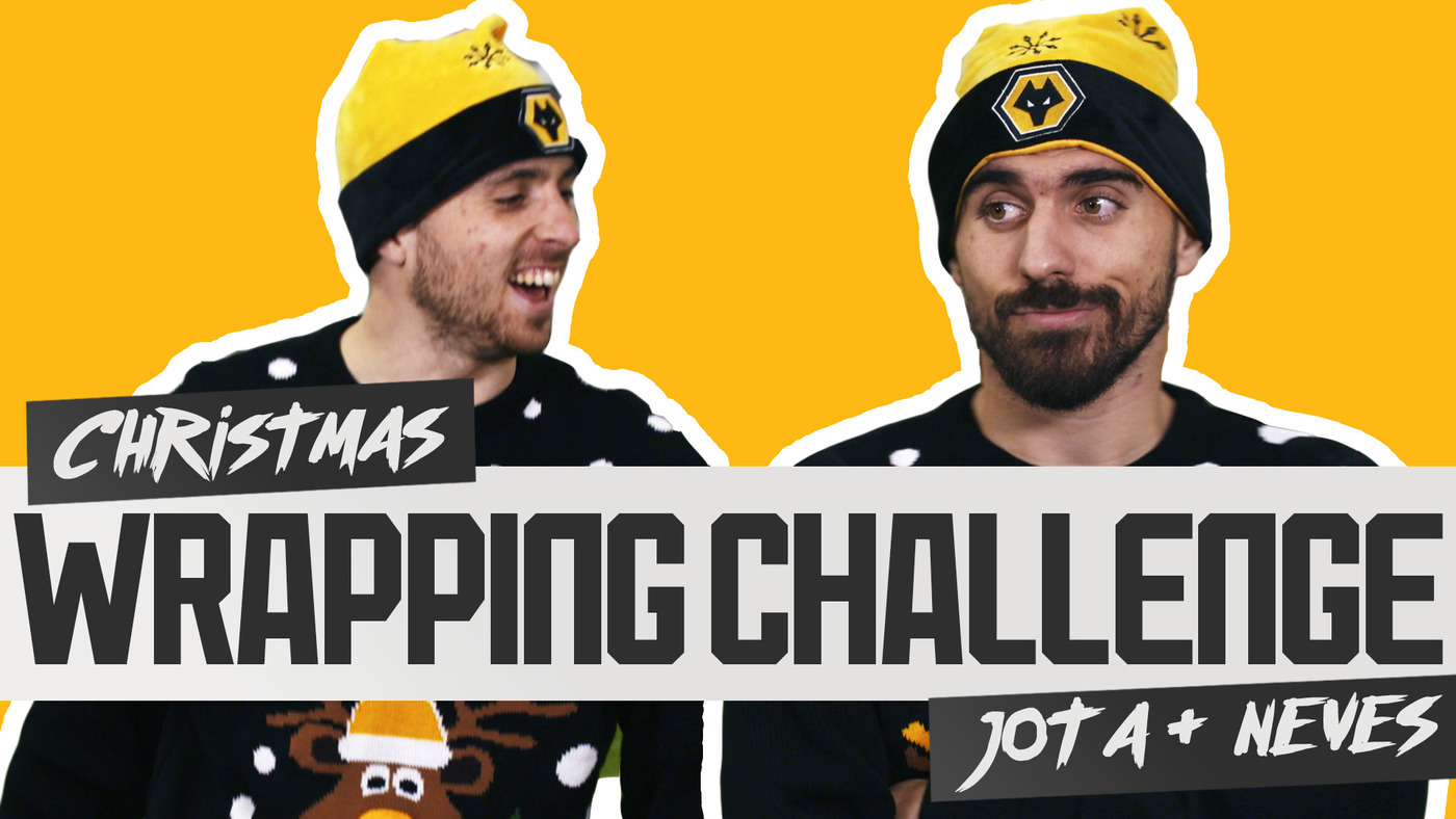 Diogo Jota takes on Ruben Neves | CHRISTMAS WRAPPING CHALLENGE