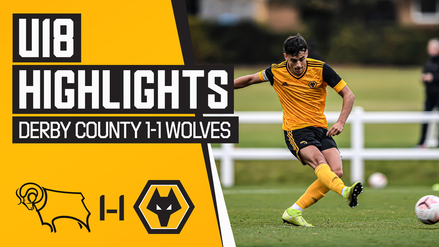 Under 18's Highlights | Derby County 1-1 Wolves | Tipton penalty not enough for Davis' young side!