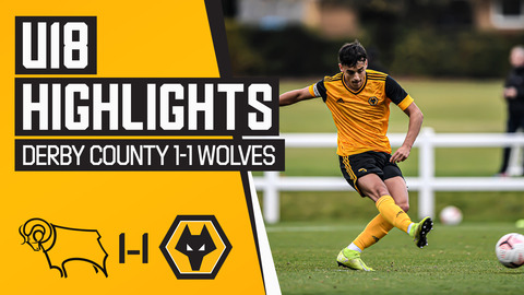 Under 18's Highlghts | Derby County 1-1 Wolves | Tipton penalty not enough for Davis' young side!