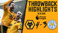 A PREMIER LEAGUE CLASSIC! Wolves 4-3 Leicester City | Throwback Highlights