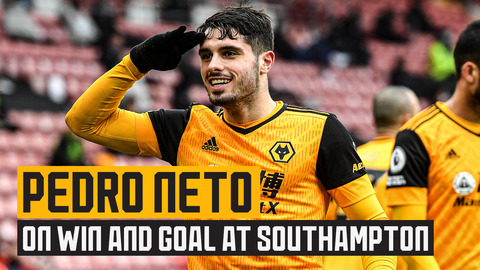 Pedro Neto reflects on his goal and the come-from-behind win at Southampton