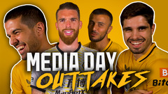 Saiss causing carnage! | Behind the scenes outtakes from the Wolves media day