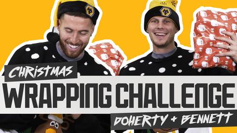 Matt Doherty & Ryan Bennett's festive face-off | CHRISTMAS WRAPPING CHALLENGE