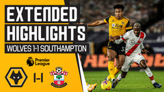 The points are shared at Molineux | Wolves 1-1 Southampton | Extended Highlights