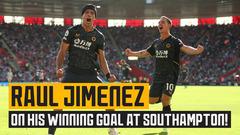Jimenez reacts to his winning goal at Southampton!
