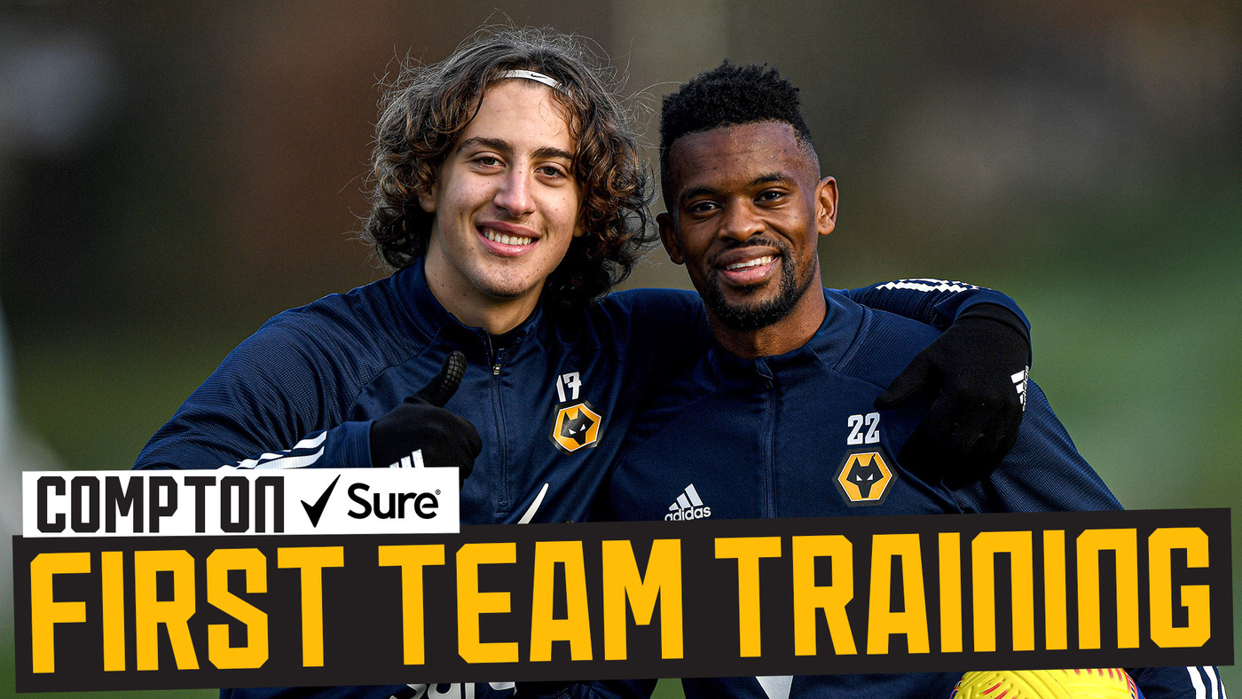 Raul Jimenez visits, Vitinha shines in mini-match | Wolves train before Burnley