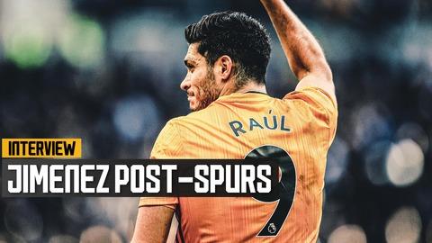 Goalscorer Jimenez reflects on a fantastic result at the Tottenham Hotspur Stadium