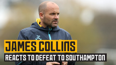 Collins reflects on defeat to Southampton