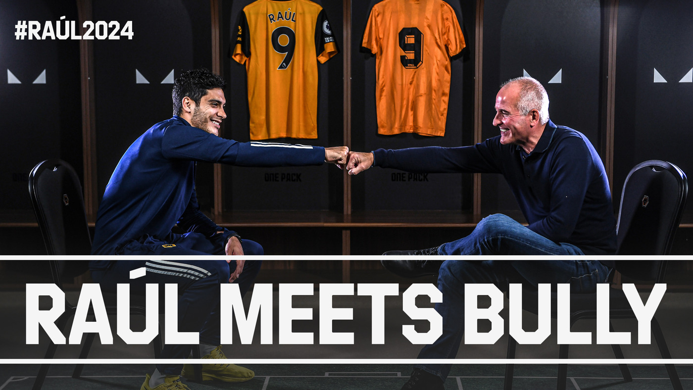 Raúl Meets Bully! | Wolves number nines talk goalscoring and Jimenez's new contract #Raúl2024