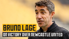 Lage reacts to a Molineux victory over Newcastle United