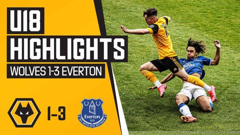 Tipton's deflected effort isn't enough for young Wolves! | Wolves 1-3 Everton | U18's Highlights