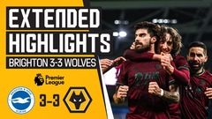 Wolves held to a draw on the south coast | Brighton & Hove Albion 3-3 Wolves | Highlights
