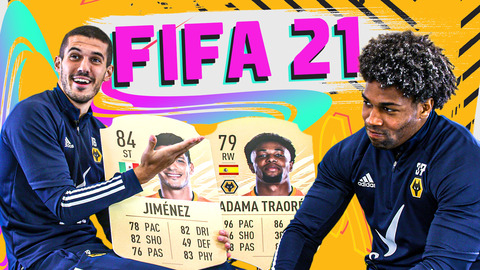 IS ADAMA TRAORE HAPPY THIS YEAR? | WOLVES PLAYERS REACT TO THEIR FIFA 21 RATINGS!