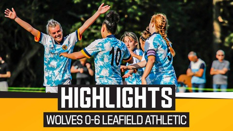 Leafield Athletic LFC 0-6 Wolves Women   Highlights