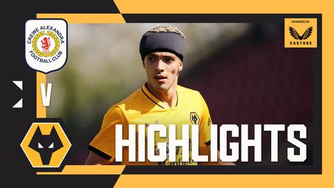 JIMENEZ RETURNS TO FIRST TEAM ACTION! Crewe Alexandra 1-0 Wolves | Pre-Season Highlights