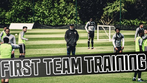 PERFECT first-time pass from Neves finds Traore! | Warm-ups, small-sided games, shooting drills.