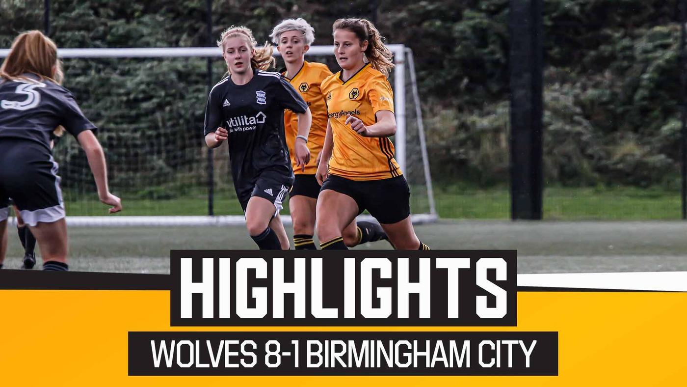 Wolves Women 8-1 Birmingham City WSL Academy | Highlights