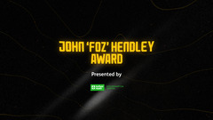 The John 'Foz' Hendley Award | The Operations Department