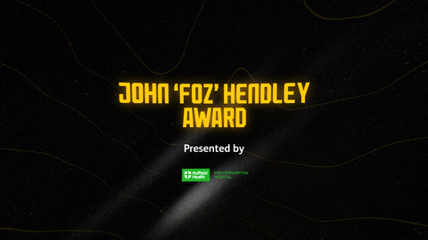 The John 'Foz' Hendley Award | The Operations Department