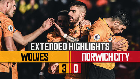Jota and Jimenez sink the Canaries! Wolves 3-0 Norwich City | Extended Highlights