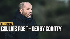 U23's boss Collins on Derby PL Cup defeat