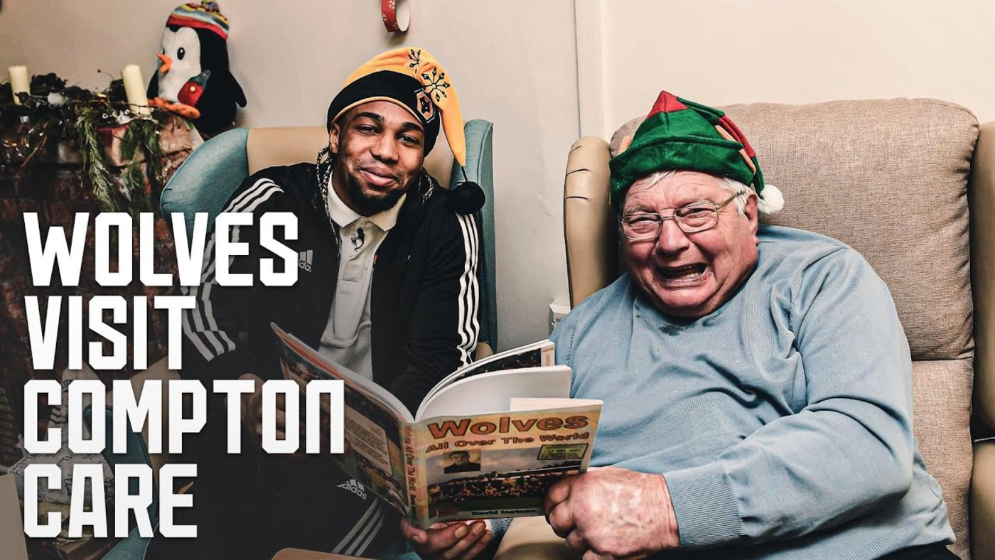 Wolves spread Christmas cheer at Compton Care