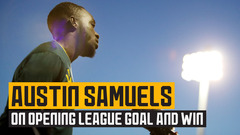 Goalscorer Austin Samuels on Boro victory and looking forward to the new season!