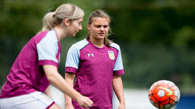 Training with Aston Villa Ladies