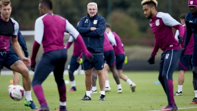 Steve Bruce's first training session