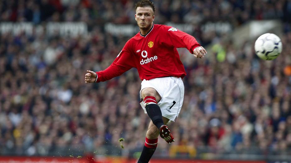 Image result for beckham man utd free kick