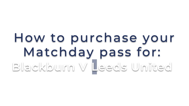 LUTV VIDEO PASS |  HOW TO BUY | v BLACKBURN