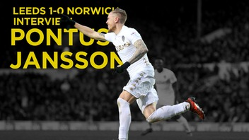 LEEDS V NORWICH | PONTUS JANSSON POST MATCH