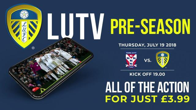 YORK CITY V LEEDS UNITED | LIVE ON LUTV