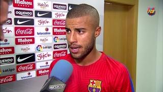 Declaracions jugadors post partit Sporting de Gijón - Barça (0-5) J6 Lliga Santander 2016/2017
